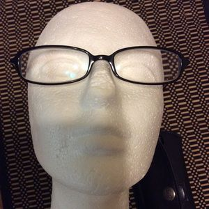 Fossil Hayes Black Plastic Rx Eyeglasses Frames